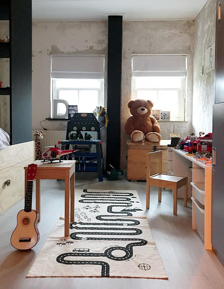 De stoere slaapkamer van Déjan!