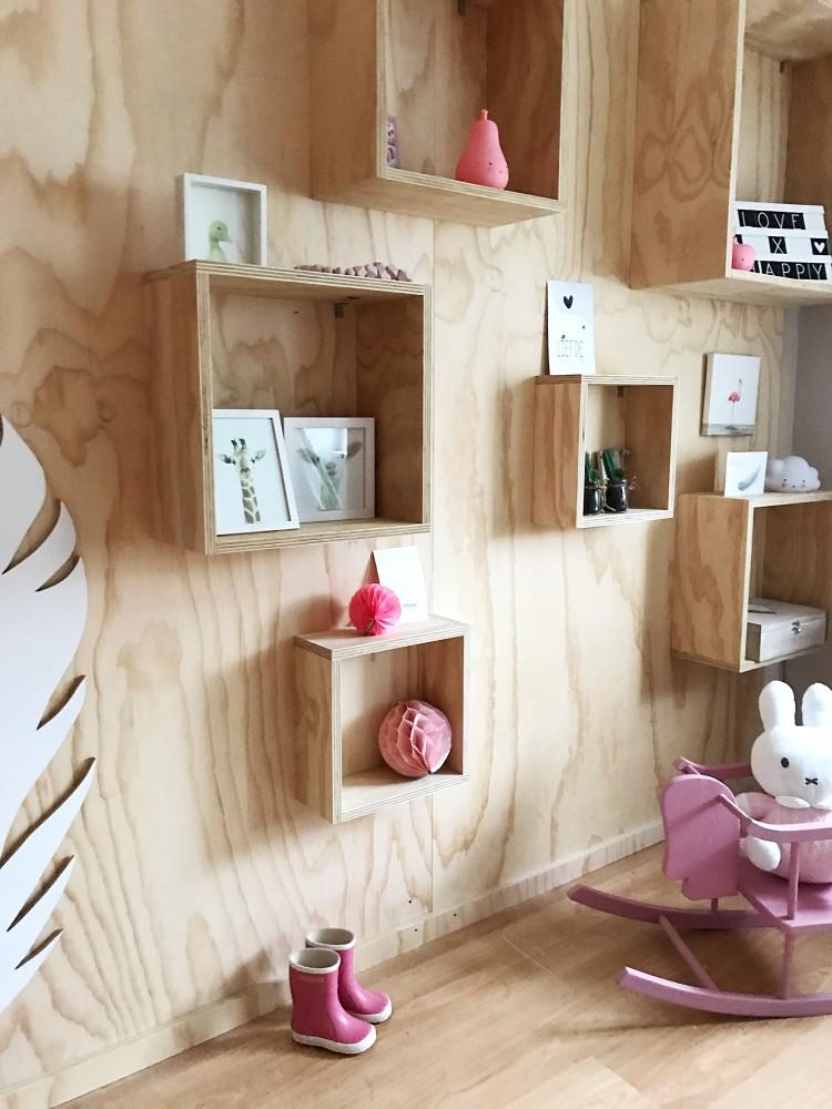 De slaapkamer van Melin, lief met een tintje roze!