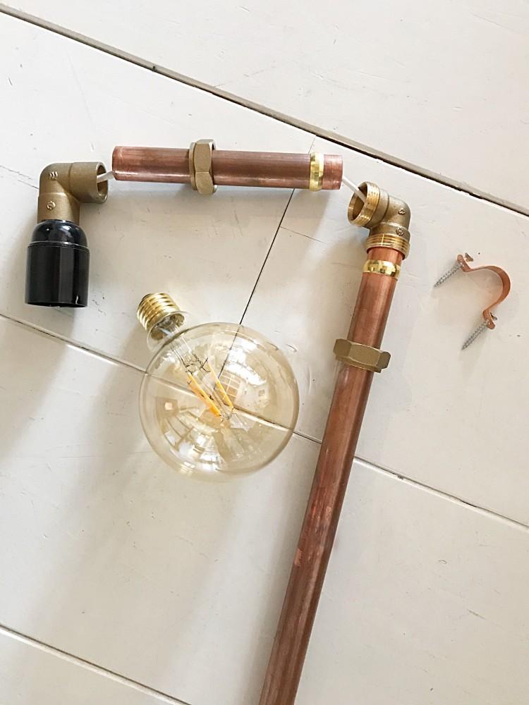 Iets Nieuws Do It Yourself, industriële lampen maken van koperbuis. - Jellina @SN92