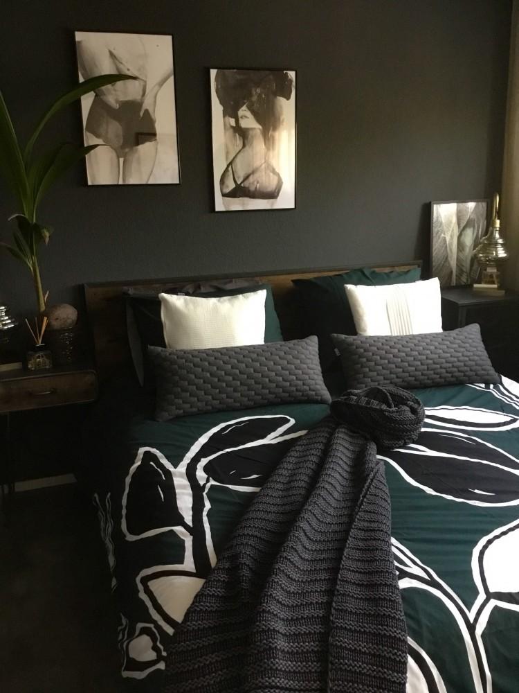 slaapkamer zwart