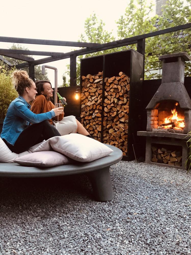 lounge in de tuin
