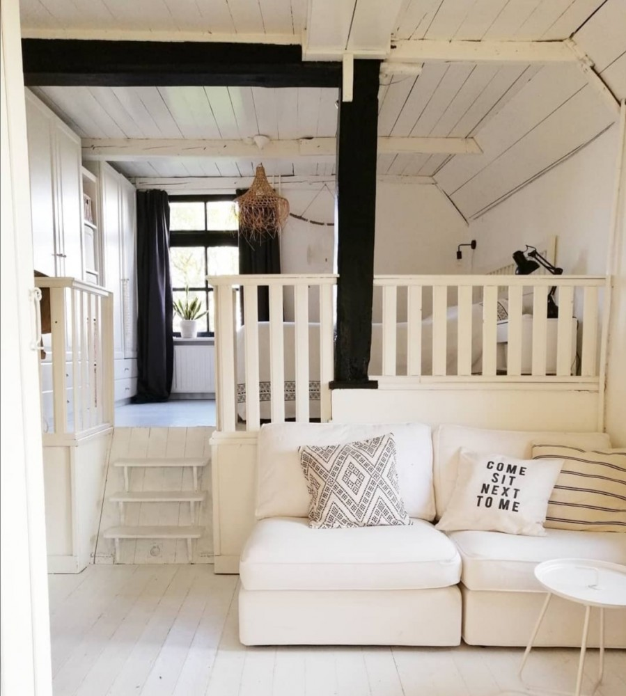 slaapkamer met opkamer
