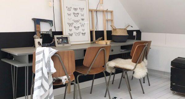 Houten bureau DIY