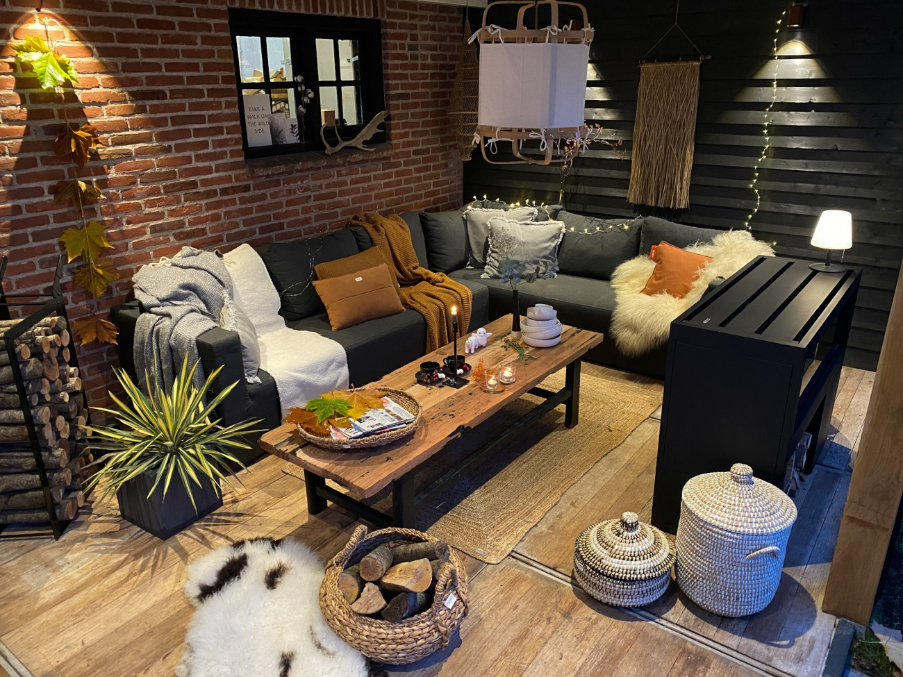 Winter styling in onze overkapping!