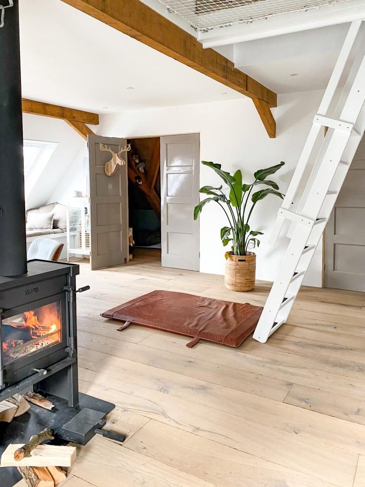 Verouderde houten vloer!